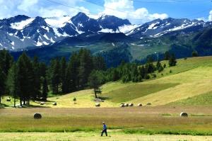 Il Monte Bianco visto da Petosan La Thuile