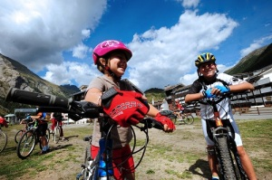 Mountain bike per bimbi a La Thuile in bassa